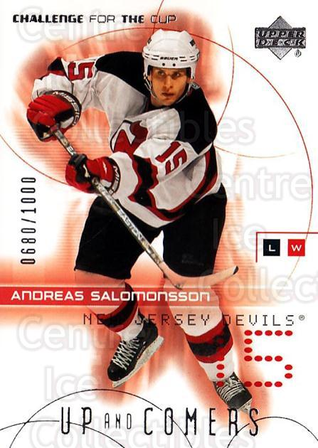 2001-02 UD Challenge for the Cup #118 Andreas Salomonsson<br/>1 In Stock - $3.00 each - <a href=https://centericecollectibles.foxycart.com/cart?name=2001-02%20UD%20Challenge%20for%20the%20Cup%20%23118%20Andreas%20Salomon...&price=$3.00&code=98225 class=foxycart> Buy it now! </a>