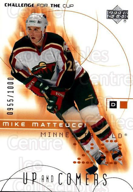 2001-02 UD Challenge for the Cup #111 Mike Matteucci<br/>3 In Stock - $3.00 each - <a href=https://centericecollectibles.foxycart.com/cart?name=2001-02%20UD%20Challenge%20for%20the%20Cup%20%23111%20Mike%20Matteucci...&quantity_max=3&price=$3.00&code=98235 class=foxycart> Buy it now! </a>