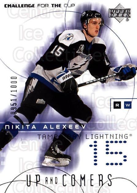2001-02 UD Challenge for the Cup #133 Nikita Alexeev<br/>1 In Stock - $3.00 each - <a href=https://centericecollectibles.foxycart.com/cart?name=2001-02%20UD%20Challenge%20for%20the%20Cup%20%23133%20Nikita%20Alexeev...&quantity_max=1&price=$3.00&code=98242 class=foxycart> Buy it now! </a>