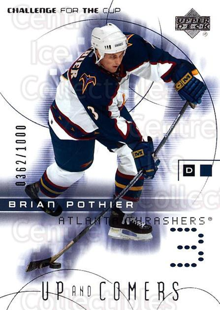 2001-02 UD Challenge for the Cup #94 Brian Pothier<br/>3 In Stock - $3.00 each - <a href=https://centericecollectibles.foxycart.com/cart?name=2001-02%20UD%20Challenge%20for%20the%20Cup%20%2394%20Brian%20Pothier...&price=$3.00&code=98317 class=foxycart> Buy it now! </a>