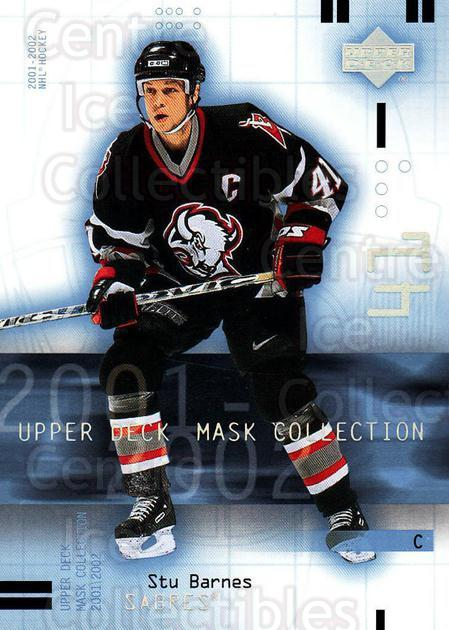 2001-02 UD Mask Collection #11 Stu Barnes<br/>6 In Stock - $1.00 each - <a href=https://centericecollectibles.foxycart.com/cart?name=2001-02%20UD%20Mask%20Collection%20%2311%20Stu%20Barnes...&quantity_max=6&price=$1.00&code=98336 class=foxycart> Buy it now! </a>