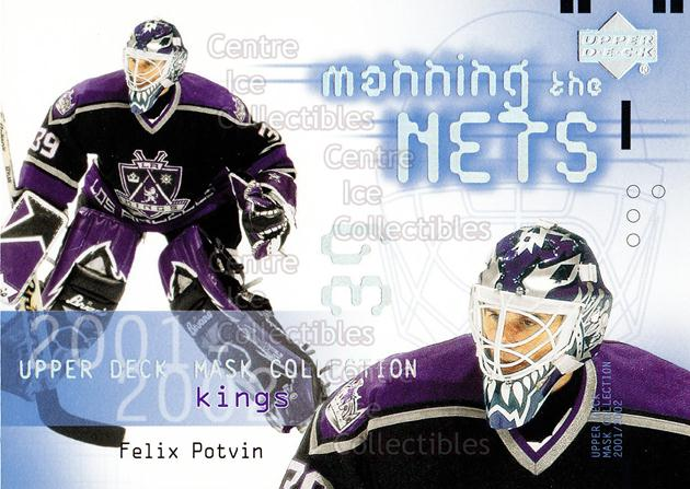 2001-02 UD Mask Collection #114 Felix Potvin<br/>13 In Stock - $2.00 each - <a href=https://centericecollectibles.foxycart.com/cart?name=2001-02%20UD%20Mask%20Collection%20%23114%20Felix%20Potvin...&quantity_max=13&price=$2.00&code=98340 class=foxycart> Buy it now! </a>