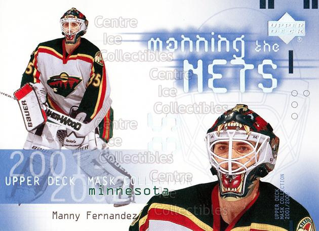 2001-02 UD Mask Collection #115 Manny Fernandez<br/>8 In Stock - $2.00 each - <a href=https://centericecollectibles.foxycart.com/cart?name=2001-02%20UD%20Mask%20Collection%20%23115%20Manny%20Fernandez...&quantity_max=8&price=$2.00&code=98341 class=foxycart> Buy it now! </a>