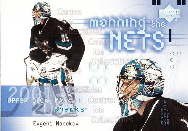 2001-02 UD Mask Collection #125 Evgeni Nabokov<br/>3 In Stock - $2.00 each - <a href=https://centericecollectibles.foxycart.com/cart?name=2001-02%20UD%20Mask%20Collection%20%23125%20Evgeni%20Nabokov...&quantity_max=3&price=$2.00&code=98349 class=foxycart> Buy it now! </a>