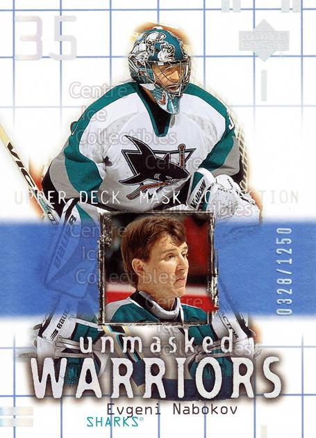 2001-02 UD Mask Collection #187 Evgeni Nabokov<br/>8 In Stock - $3.00 each - <a href=https://centericecollectibles.foxycart.com/cart?name=2001-02%20UD%20Mask%20Collection%20%23187%20Evgeni%20Nabokov...&quantity_max=8&price=$3.00&code=98379 class=foxycart> Buy it now! </a>