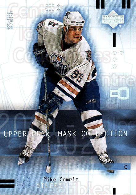 2001-02 UD Mask Collection #36 Mike Comrie<br/>6 In Stock - $1.00 each - <a href=https://centericecollectibles.foxycart.com/cart?name=2001-02%20UD%20Mask%20Collection%20%2336%20Mike%20Comrie...&quantity_max=6&price=$1.00&code=98400 class=foxycart> Buy it now! </a>