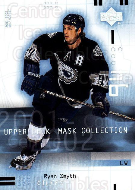 2001-02 UD Mask Collection #37 Ryan Smyth<br/>6 In Stock - $1.00 each - <a href=https://centericecollectibles.foxycart.com/cart?name=2001-02%20UD%20Mask%20Collection%20%2337%20Ryan%20Smyth...&quantity_max=6&price=$1.00&code=98401 class=foxycart> Buy it now! </a>