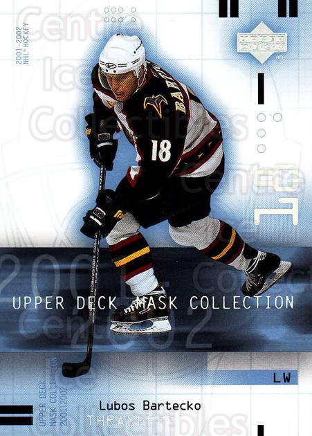 2001-02 UD Mask Collection #5 Lubos Bartecko<br/>5 In Stock - $1.00 each - <a href=https://centericecollectibles.foxycart.com/cart?name=2001-02%20UD%20Mask%20Collection%20%235%20Lubos%20Bartecko...&quantity_max=5&price=$1.00&code=98415 class=foxycart> Buy it now! </a>