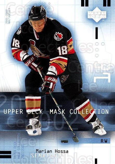 2001-02 UD Mask Collection #68 Marian Hossa<br/>6 In Stock - $1.00 each - <a href=https://centericecollectibles.foxycart.com/cart?name=2001-02%20UD%20Mask%20Collection%20%2368%20Marian%20Hossa...&quantity_max=6&price=$1.00&code=98432 class=foxycart> Buy it now! </a>