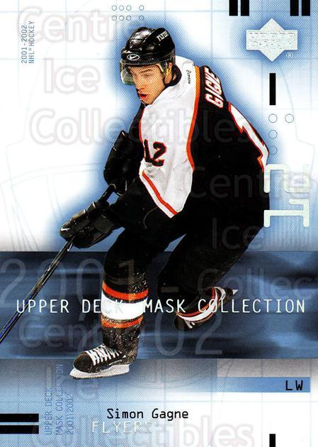 2001-02 UD Mask Collection #70 Simon Gagne<br/>6 In Stock - $1.00 each - <a href=https://centericecollectibles.foxycart.com/cart?name=2001-02%20UD%20Mask%20Collection%20%2370%20Simon%20Gagne...&quantity_max=6&price=$1.00&code=98435 class=foxycart> Buy it now! </a>