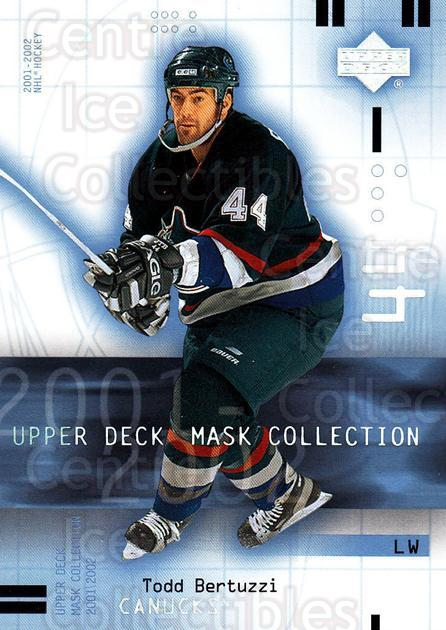 2001-02 UD Mask Collection #94 Todd Bertuzzi<br/>5 In Stock - $1.00 each - <a href=https://centericecollectibles.foxycart.com/cart?name=2001-02%20UD%20Mask%20Collection%20%2394%20Todd%20Bertuzzi...&quantity_max=5&price=$1.00&code=98461 class=foxycart> Buy it now! </a>