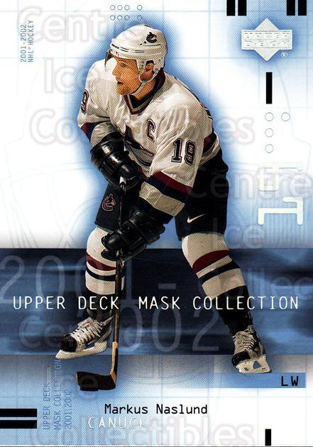 2001-02 UD Mask Collection #95 Markus Naslund<br/>6 In Stock - $1.00 each - <a href=https://centericecollectibles.foxycart.com/cart?name=2001-02%20UD%20Mask%20Collection%20%2395%20Markus%20Naslund...&quantity_max=6&price=$1.00&code=98462 class=foxycart> Buy it now! </a>