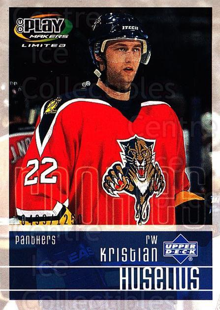 2001-02 UD Playmakers #120 Kristian Huselius<br/>7 In Stock - $3.00 each - <a href=https://centericecollectibles.foxycart.com/cart?name=2001-02%20UD%20Playmakers%20%23120%20Kristian%20Huseli...&quantity_max=7&price=$3.00&code=98489 class=foxycart> Buy it now! </a>