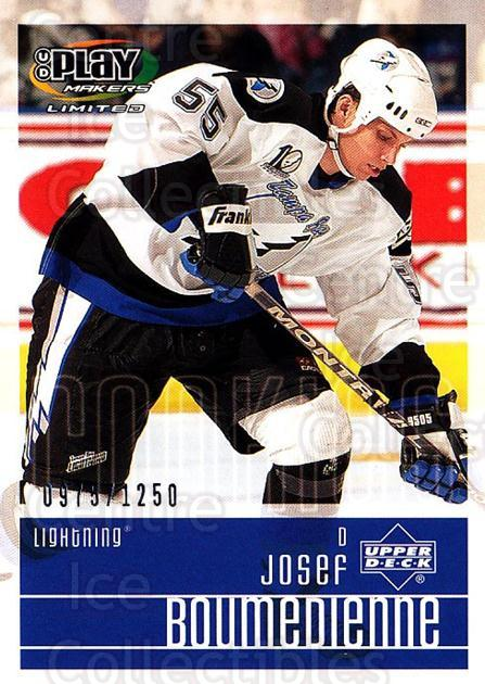 2001-02 UD Playmakers #141 Josef Boumedienne<br/>1 In Stock - $3.00 each - <a href=https://centericecollectibles.foxycart.com/cart?name=2001-02%20UD%20Playmakers%20%23141%20Josef%20Boumedien...&quantity_max=1&price=$3.00&code=98506 class=foxycart> Buy it now! </a>