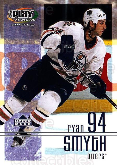 2001-02 UD Playmakers #41 Ryan Smyth<br/>7 In Stock - $1.00 each - <a href=https://centericecollectibles.foxycart.com/cart?name=2001-02%20UD%20Playmakers%20%2341%20Ryan%20Smyth...&quantity_max=7&price=$1.00&code=98538 class=foxycart> Buy it now! </a>