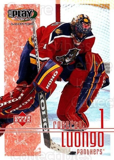 2001-02 UD Playmakers #44 Roberto Luongo<br/>6 In Stock - $2.00 each - <a href=https://centericecollectibles.foxycart.com/cart?name=2001-02%20UD%20Playmakers%20%2344%20Roberto%20Luongo...&quantity_max=6&price=$2.00&code=98541 class=foxycart> Buy it now! </a>