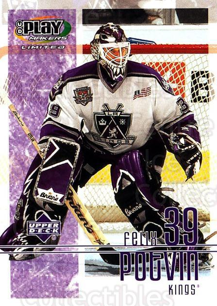 2001-02 UD Playmakers #46 Felix Potvin<br/>5 In Stock - $1.00 each - <a href=https://centericecollectibles.foxycart.com/cart?name=2001-02%20UD%20Playmakers%20%2346%20Felix%20Potvin...&quantity_max=5&price=$1.00&code=98543 class=foxycart> Buy it now! </a>