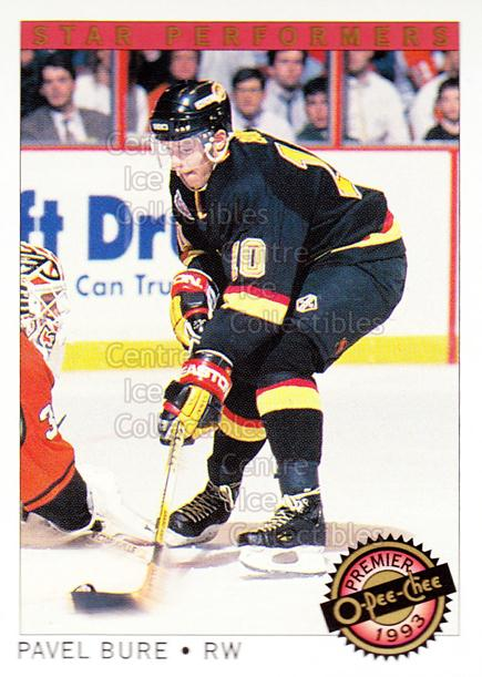 1992-93 OPC Premier Star Performers #10 Pavel Bure<br/>6 In Stock - $1.00 each - <a href=https://centericecollectibles.foxycart.com/cart?name=1992-93%20OPC%20Premier%20Star%20Performers%20%2310%20Pavel%20Bure...&quantity_max=6&price=$1.00&code=9854 class=foxycart> Buy it now! </a>