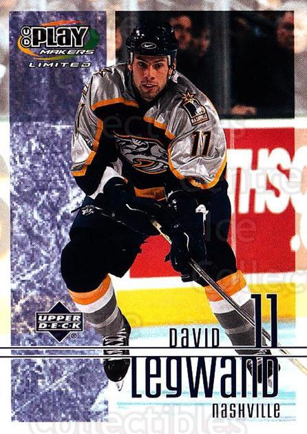 2001-02 UD Playmakers #55 David Legwand<br/>7 In Stock - $1.00 each - <a href=https://centericecollectibles.foxycart.com/cart?name=2001-02%20UD%20Playmakers%20%2355%20David%20Legwand...&quantity_max=7&price=$1.00&code=98553 class=foxycart> Buy it now! </a>