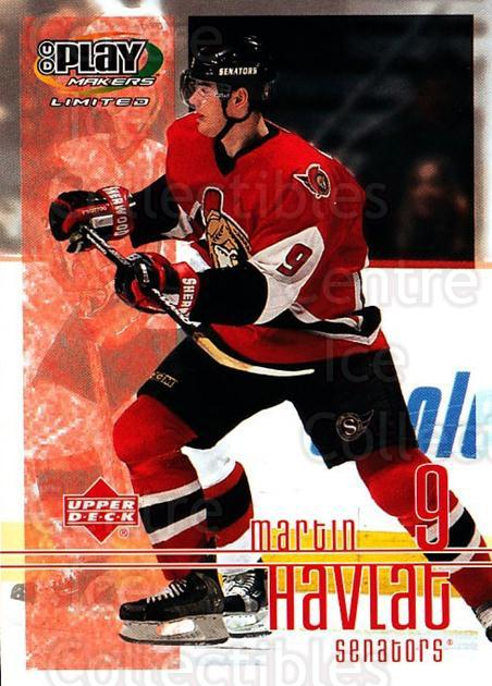 2001-02 UD Playmakers #70 Martin Havlat<br/>7 In Stock - $1.00 each - <a href=https://centericecollectibles.foxycart.com/cart?name=2001-02%20UD%20Playmakers%20%2370%20Martin%20Havlat...&quantity_max=7&price=$1.00&code=98567 class=foxycart> Buy it now! </a>