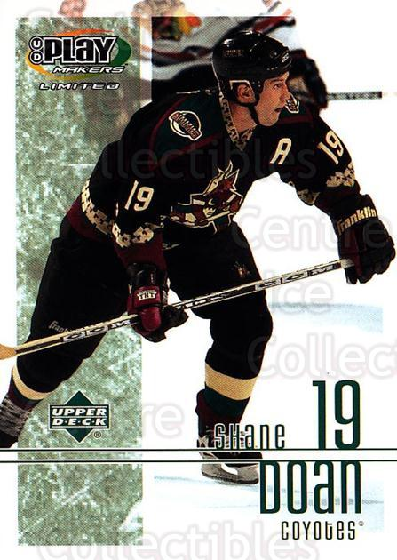 2001-02 UD Playmakers #76 Shane Doan<br/>7 In Stock - $1.00 each - <a href=https://centericecollectibles.foxycart.com/cart?name=2001-02%20UD%20Playmakers%20%2376%20Shane%20Doan...&quantity_max=7&price=$1.00&code=98573 class=foxycart> Buy it now! </a>
