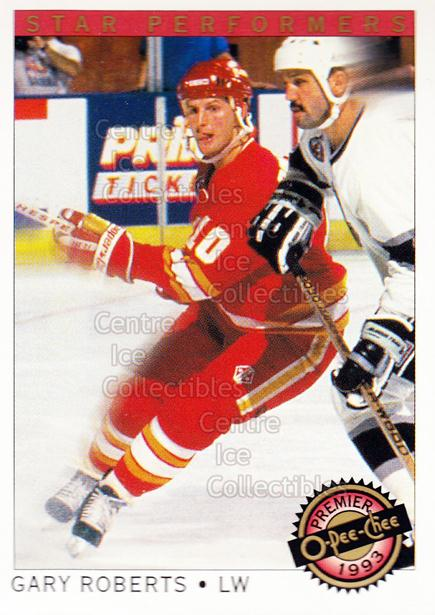 1992-93 OPC Premier Star Performers #14 Gary Roberts<br/>2 In Stock - $1.00 each - <a href=https://centericecollectibles.foxycart.com/cart?name=1992-93%20OPC%20Premier%20Star%20Performers%20%2314%20Gary%20Roberts...&quantity_max=2&price=$1.00&code=9858 class=foxycart> Buy it now! </a>