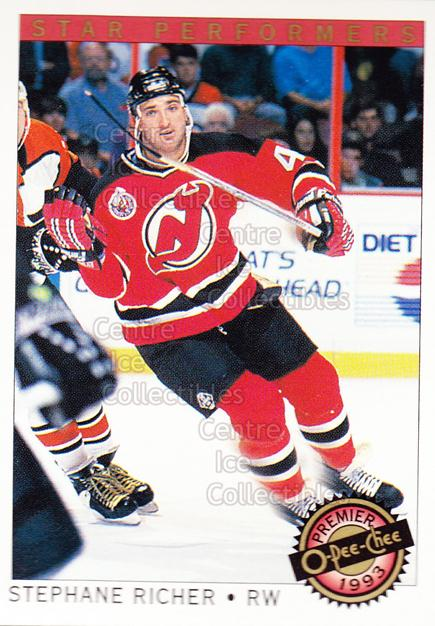 1992-93 OPC Premier Star Performers #18 Stephane Richer<br/>6 In Stock - $1.00 each - <a href=https://centericecollectibles.foxycart.com/cart?name=1992-93%20OPC%20Premier%20Star%20Performers%20%2318%20Stephane%20Richer...&quantity_max=6&price=$1.00&code=9862 class=foxycart> Buy it now! </a>