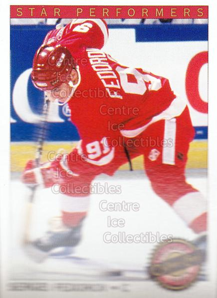 1992-93 OPC Premier Star Performers #20 Sergei Fedorov<br/>5 In Stock - $1.00 each - <a href=https://centericecollectibles.foxycart.com/cart?name=1992-93%20OPC%20Premier%20Star%20Performers%20%2320%20Sergei%20Fedorov...&quantity_max=5&price=$1.00&code=9865 class=foxycart> Buy it now! </a>