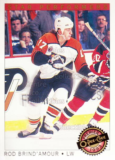 1992-93 OPC Premier Star Performers #9 Rod Brind'Amour<br/>1 In Stock - $1.00 each - <a href=https://centericecollectibles.foxycart.com/cart?name=1992-93%20OPC%20Premier%20Star%20Performers%20%239%20Rod%20Brind'Amour...&quantity_max=1&price=$1.00&code=9873 class=foxycart> Buy it now! </a>