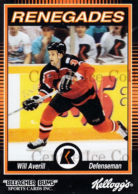 1992-93 Richmond Renegades #1 Will Averill<br/>5 In Stock - $3.00 each - <a href=https://centericecollectibles.foxycart.com/cart?name=1992-93%20Richmond%20Renegades%20%231%20Will%20Averill...&quantity_max=5&price=$3.00&code=9885 class=foxycart> Buy it now! </a>