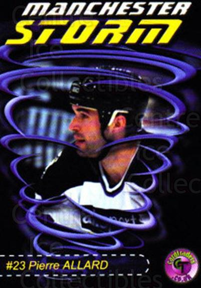 2001-02 UK British Elite Manchester Storm #9 Pierre Allard<br/>9 In Stock - $3.00 each - <a href=https://centericecollectibles.foxycart.com/cart?name=2001-02%20UK%20British%20Elite%20Manchester%20Storm%20%239%20Pierre%20Allard...&quantity_max=9&price=$3.00&code=98948 class=foxycart> Buy it now! </a>