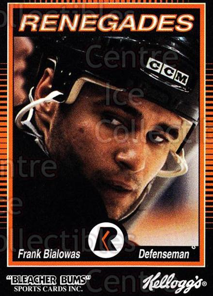 1992-93 Richmond Renegades #2 Frank Bialowas<br/>1 In Stock - $3.00 each - <a href=https://centericecollectibles.foxycart.com/cart?name=1992-93%20Richmond%20Renegades%20%232%20Frank%20Bialowas...&quantity_max=1&price=$3.00&code=9895 class=foxycart> Buy it now! </a>