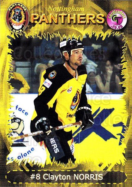 2001-02 UK British Elite Nottingham Panthers #3 Clayton Norris<br/>5 In Stock - $2.00 each - <a href=https://centericecollectibles.foxycart.com/cart?name=2001-02%20UK%20British%20Elite%20Nottingham%20Panthers%20%233%20Clayton%20Norris...&price=$2.00&code=98969 class=foxycart> Buy it now! </a>