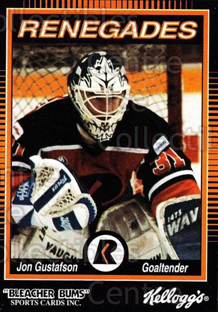 1992-93 Richmond Renegades #6 Jon Gustafson<br/>7 In Stock - $3.00 each - <a href=https://centericecollectibles.foxycart.com/cart?name=1992-93%20Richmond%20Renegades%20%236%20Jon%20Gustafson...&quantity_max=7&price=$3.00&code=9900 class=foxycart> Buy it now! </a>