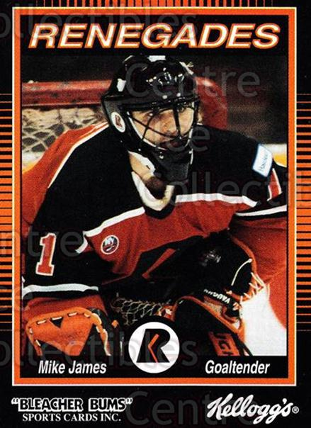 1992-93 Richmond Renegades #8 Mike James<br/>7 In Stock - $3.00 each - <a href=https://centericecollectibles.foxycart.com/cart?name=1992-93%20Richmond%20Renegades%20%238%20Mike%20James...&quantity_max=7&price=$3.00&code=9902 class=foxycart> Buy it now! </a>