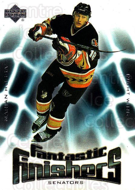 2001-02 Upper Deck Fantastic Finishers #7 Marian Hossa<br/>7 In Stock - $2.00 each - <a href=https://centericecollectibles.foxycart.com/cart?name=2001-02%20Upper%20Deck%20Fantastic%20Finishers%20%237%20Marian%20Hossa...&quantity_max=7&price=$2.00&code=99032 class=foxycart> Buy it now! </a>