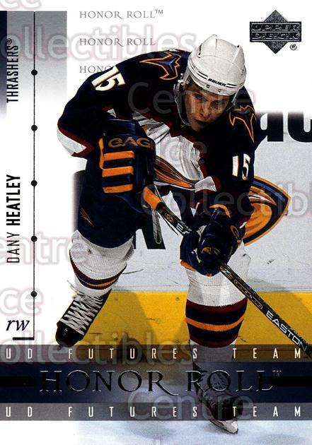 2001-02 UD Honor Roll #25 Dany Heatley<br/>6 In Stock - $1.00 each - <a href=https://centericecollectibles.foxycart.com/cart?name=2001-02%20UD%20Honor%20Roll%20%2325%20Dany%20Heatley...&quantity_max=6&price=$1.00&code=99072 class=foxycart> Buy it now! </a>