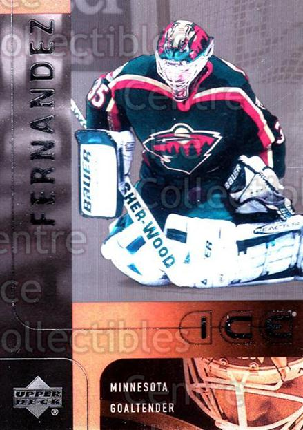 2001-02 UD Ice #24 Manny Fernandez<br/>6 In Stock - $1.00 each - <a href=https://centericecollectibles.foxycart.com/cart?name=2001-02%20UD%20Ice%20%2324%20Manny%20Fernandez...&quantity_max=6&price=$1.00&code=99173 class=foxycart> Buy it now! </a>