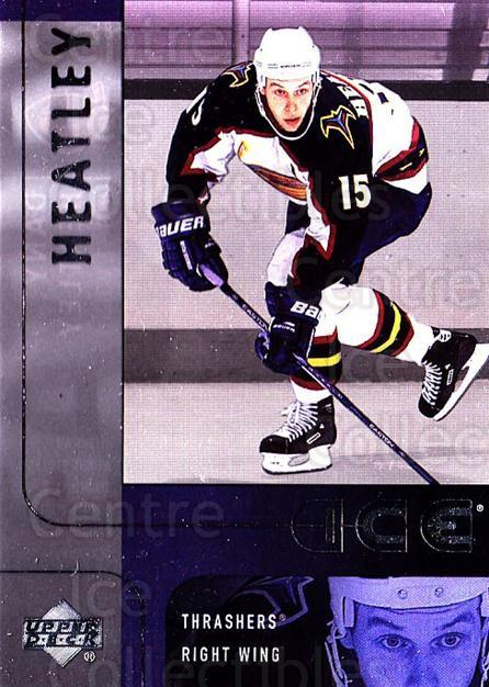 2001-02 UD Ice #85 Dany Heatley<br/>3 In Stock - $1.00 each - <a href=https://centericecollectibles.foxycart.com/cart?name=2001-02%20UD%20Ice%20%2385%20Dany%20Heatley...&quantity_max=3&price=$1.00&code=99199 class=foxycart> Buy it now! </a>