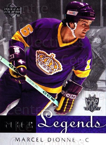 2001-02 Upper Deck Legends #27 Marcel Dionne<br/>6 In Stock - $2.00 each - <a href=https://centericecollectibles.foxycart.com/cart?name=2001-02%20Upper%20Deck%20Legends%20%2327%20Marcel%20Dionne...&quantity_max=6&price=$2.00&code=99229 class=foxycart> Buy it now! </a>