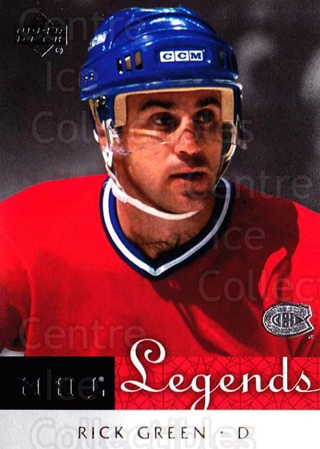 2001-02 Upper Deck Legends #37 Rick Green<br/>3 In Stock - $2.00 each - <a href=https://centericecollectibles.foxycart.com/cart?name=2001-02%20Upper%20Deck%20Legends%20%2337%20Rick%20Green...&quantity_max=3&price=$2.00&code=99238 class=foxycart> Buy it now! </a>