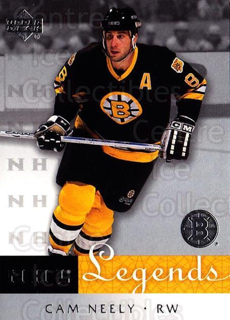 2001-02 Upper Deck Legends #5 Cam Neely<br/>10 In Stock - $2.00 each - <a href=https://centericecollectibles.foxycart.com/cart?name=2001-02%20Upper%20Deck%20Legends%20%235%20Cam%20Neely...&quantity_max=10&price=$2.00&code=99252 class=foxycart> Buy it now! </a>