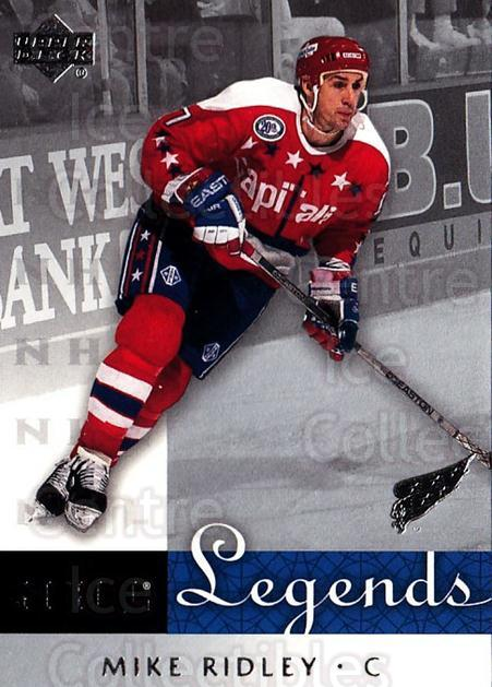 2001-02 Upper Deck Legends #66 Mike Ridley<br/>8 In Stock - $2.00 each - <a href=https://centericecollectibles.foxycart.com/cart?name=2001-02%20Upper%20Deck%20Legends%20%2366%20Mike%20Ridley...&quantity_max=8&price=$2.00&code=99270 class=foxycart> Buy it now! </a>