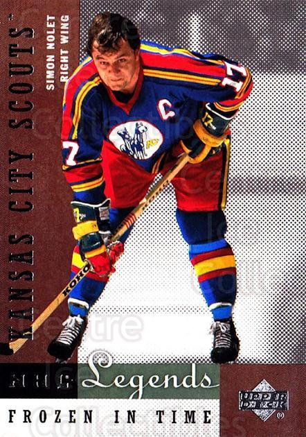 2001-02 Upper Deck Legends #74 Simon Nolet<br/>9 In Stock - $2.00 each - <a href=https://centericecollectibles.foxycart.com/cart?name=2001-02%20Upper%20Deck%20Legends%20%2374%20Simon%20Nolet...&quantity_max=9&price=$2.00&code=99279 class=foxycart> Buy it now! </a>