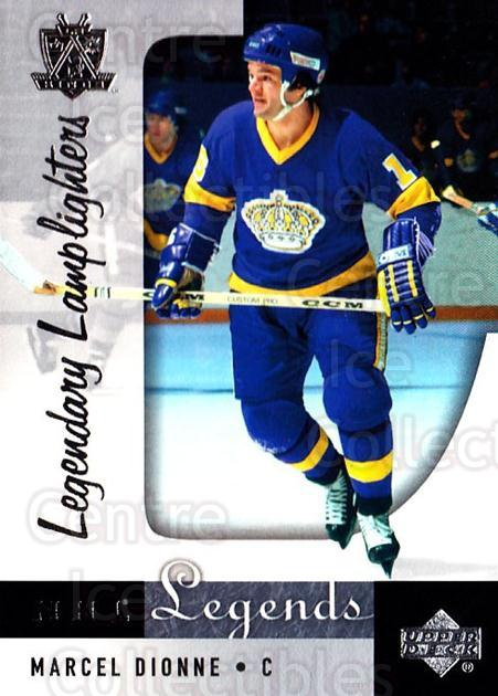 2001-02 Upper Deck Legends #93 Marcel Dionne<br/>1 In Stock - $2.00 each - <a href=https://centericecollectibles.foxycart.com/cart?name=2001-02%20Upper%20Deck%20Legends%20%2393%20Marcel%20Dionne...&quantity_max=1&price=$2.00&code=99296 class=foxycart> Buy it now! </a>