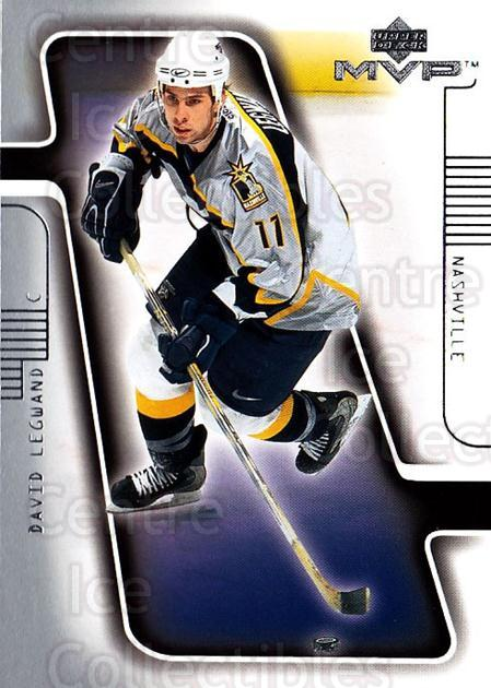 2001-02 Upper Deck MVP #104 David Legwand<br/>4 In Stock - $1.00 each - <a href=https://centericecollectibles.foxycart.com/cart?name=2001-02%20Upper%20Deck%20MVP%20%23104%20David%20Legwand...&quantity_max=4&price=$1.00&code=99313 class=foxycart> Buy it now! </a>