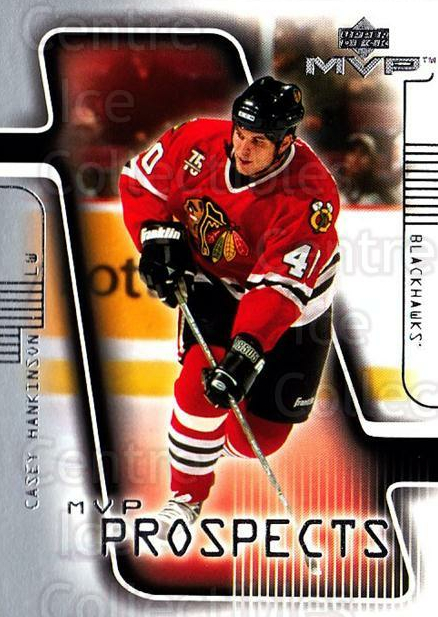 2001-02 Upper Deck MVP #194 Casey Hankinson<br/>2 In Stock - $1.00 each - <a href=https://centericecollectibles.foxycart.com/cart?name=2001-02%20Upper%20Deck%20MVP%20%23194%20Casey%20Hankinson...&quantity_max=2&price=$1.00&code=99412 class=foxycart> Buy it now! </a>