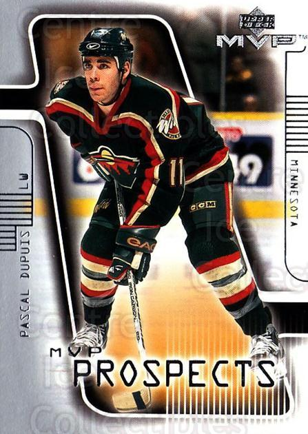 2001-02 Upper Deck MVP #204 Pascal Dupuis<br/>4 In Stock - $1.00 each - <a href=https://centericecollectibles.foxycart.com/cart?name=2001-02%20Upper%20Deck%20MVP%20%23204%20Pascal%20Dupuis...&quantity_max=4&price=$1.00&code=99424 class=foxycart> Buy it now! </a>