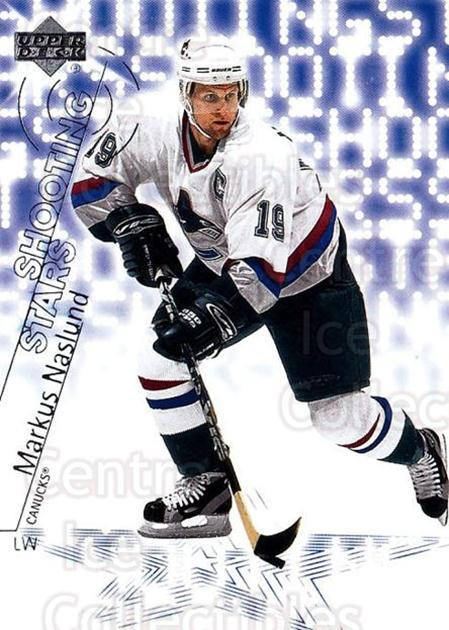 2001-02 Upper Deck Shooting Stars #18 Markus Naslund<br/>18 In Stock - $2.00 each - <a href=https://centericecollectibles.foxycart.com/cart?name=2001-02%20Upper%20Deck%20Shooting%20Stars%20%2318%20Markus%20Naslund...&quantity_max=18&price=$2.00&code=99465 class=foxycart> Buy it now! </a>