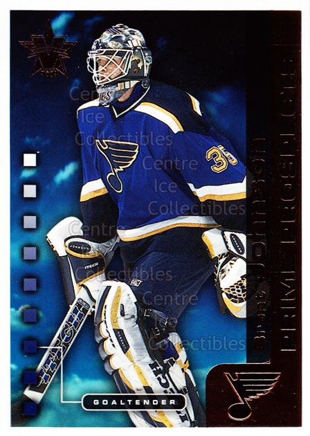 2001-02 Vanguard Prime Prospects #16 Brent Johnson<br/>2 In Stock - $2.00 each - <a href=https://centericecollectibles.foxycart.com/cart?name=2001-02%20Vanguard%20Prime%20Prospects%20%2316%20Brent%20Johnson...&quantity_max=2&price=$2.00&code=99935 class=foxycart> Buy it now! </a>